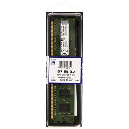 Modulo DDR3 1600MHz CL11 2Gb SRX16 KVR16N11S6/2