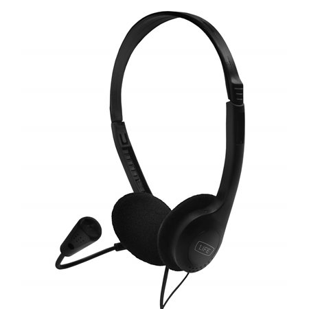 Auriculares+micro 1LIFE SoundOne Negro(1IFEHSSNDONE)