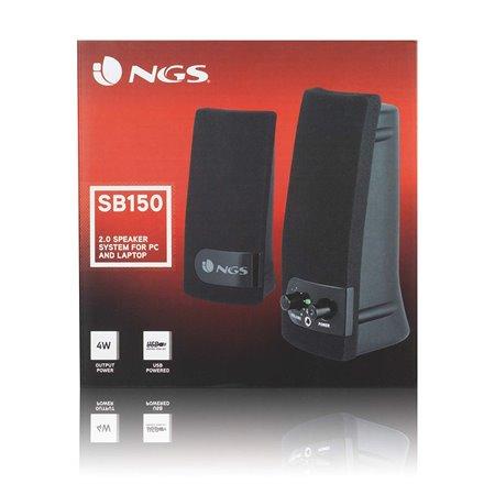 Altavoces NGS Multimedia 4W (2W 2W) Negro (SB150)