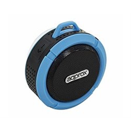 Altavoces APPROX 3w WaterProof BT Negro/Azul APPSPWPBBL