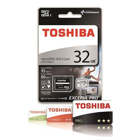 TOSHIBA MicroSDHC 32Gb C10 U3 4K (THN-M401S0320E2)
