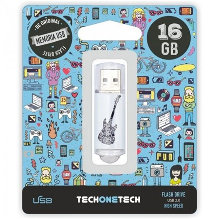 Pendrive TECHONETECH Crazy Black Guitar16Gb(TEC4006-16)