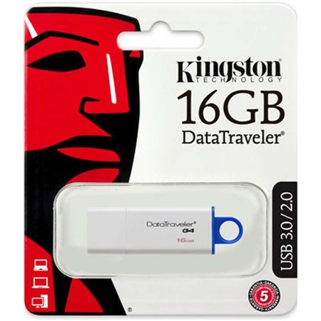 Pendrive KINGSTON USB 3.0 16Gb Blanco (DTIG4/16GB)