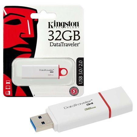 Pendrive KINGSTON USB 3.0 32Gb Blanco (DTIG4/32GB)