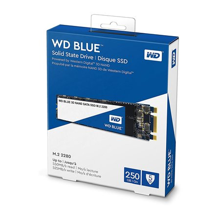 SSD WD Blue 3D 250Gb SATA M.2 2280 (WDS250G2B0B)
