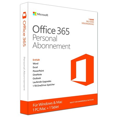Microsoft Office 365 Personal 1 año