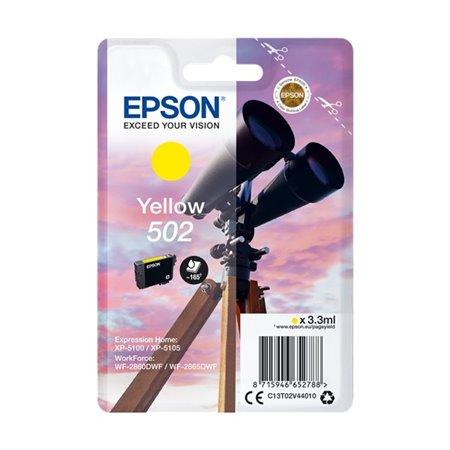 Tinta EPSON 502 Amarillo Prismáticos (C13T02V44010)