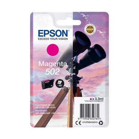 Tinta EPSON 502 Magenta Prismáticos (C13T02V34010)