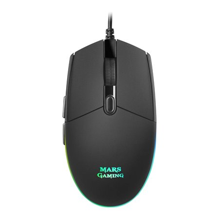Ratón MARS Gaming USB optico 3200dpi RGB Negro (MMG)