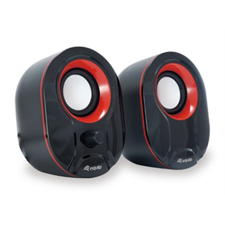 Altavoces EQUIP Life Mini 2.0 Usb Rojo volumen(EQ245332