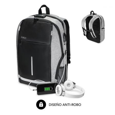 "Mochila SUBBLIM Business Lock 16"" Usb Negro(BP-2BL1000)"