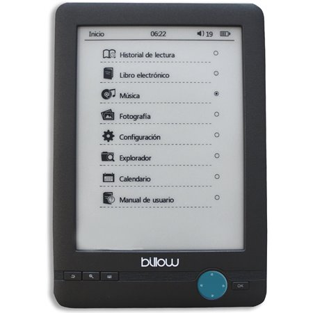 "e-Book BILLOW 6"" PVI E-INK 4Gb Táctil Grey (E03T)"