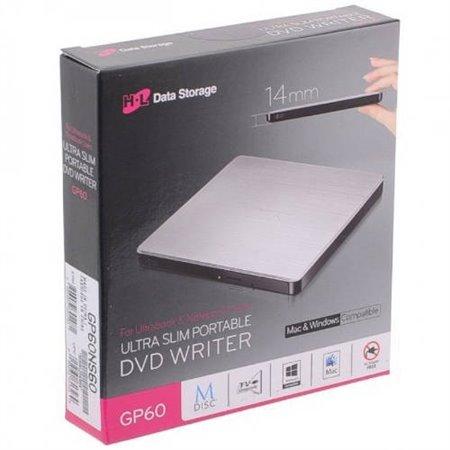 Regrabadora LG Ultra Slim DVD-RW Usb2 Plata (GP60NS60)