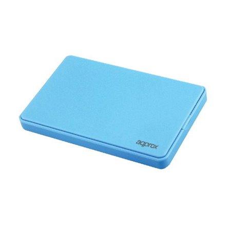 "Caja HDD APPROX 2.5"" SATA Usb2.0 Azul (APPHDD200LB)"