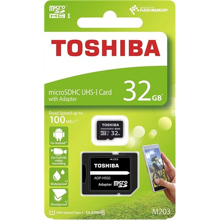 TOSHIBA MicroSD 32Gb C10 Adaptador (THN-M203K0320EA)