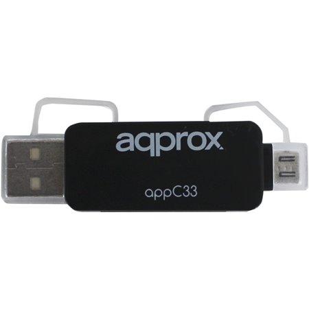 Lector de Tarjetas APPROX USB-MicroUSB (APPC33)