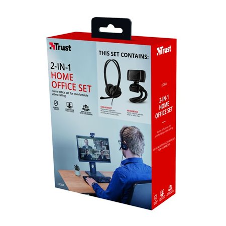 Pack Trust Webcam 720P + Auriculares con micro (240036)