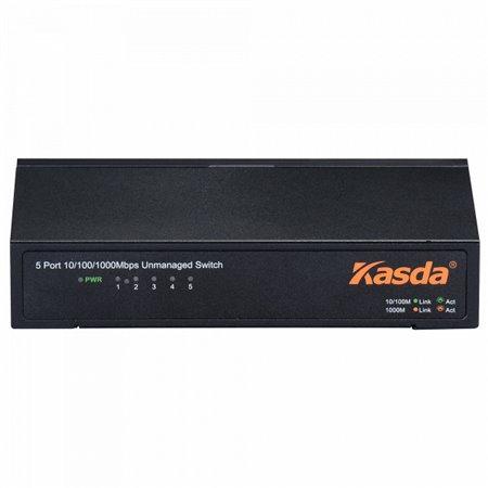 Switch KASDA 5Puertos 10/100/1000Mbps Negro (KS1005)