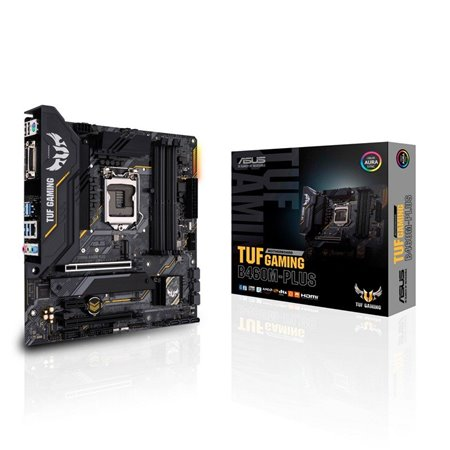 ASUSTUF GAMING B460M-PLUS: (1200) 4DDR4 HDMI DVI mATX