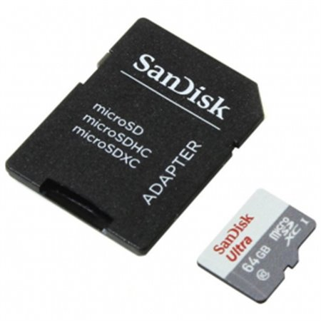 SANDISK Micro SDXC 64Gb+Adaptador(SDSQUNR-064G-GN3MA)