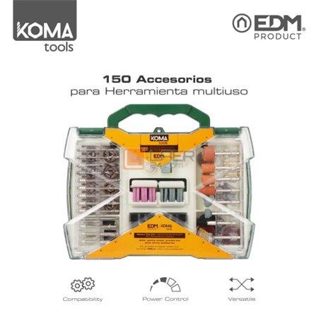 Set 150 accesorios para rotativa Koma 08709 (08734)