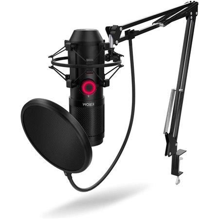 Kit Microfono  KROM KAPSULE Usb Negro (NXKROMKPSL)