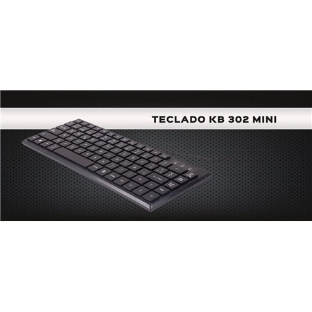 Teclado UNYKA Mini KB302 USB Negro (50542)