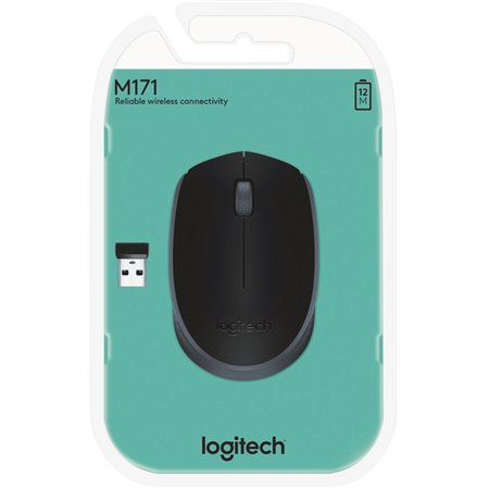 Ratón LOGITECH M171 Wireless Negro (910-004424)