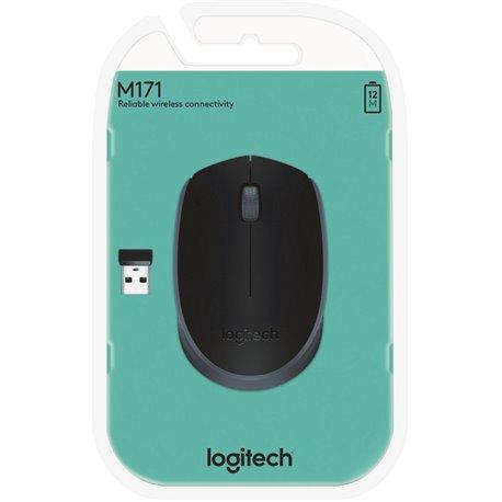 Ratón LOGITECH M171 Wireless Negro (910-004424)