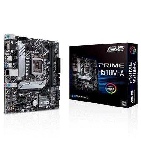 ASUS PRIME H510M-A:(1200) 2DDR4 HDMI VGA mATX