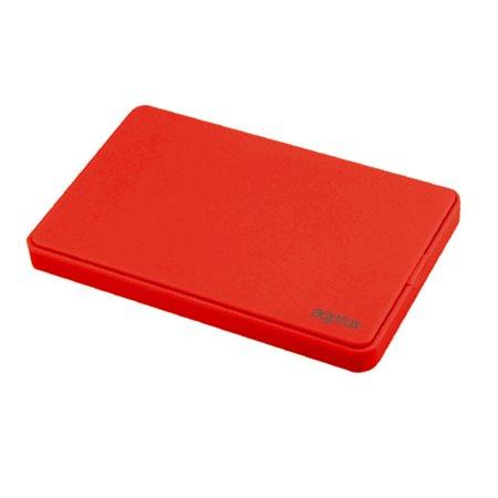 """Caja HDD APPROX 2.5"""" SATA Usb3.0 Rojo (APPHDD300R)"""