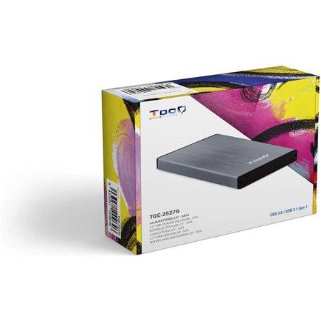 """Caja HDD TOOQ 2.5"""" SATA Usb3 Gris (TQE-2527G)"""