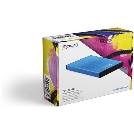 """Caja HDD TOOQ 2.5"""" SATA USB3 Azul (TQE-2527BL)"""