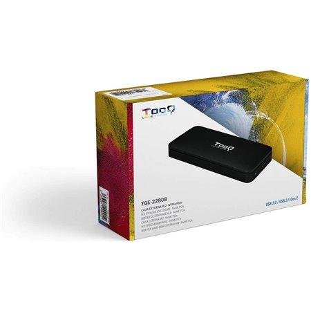 Caja Externa TOOQ SSD M.2 Usb3.1 Negro (TQE-2280B)