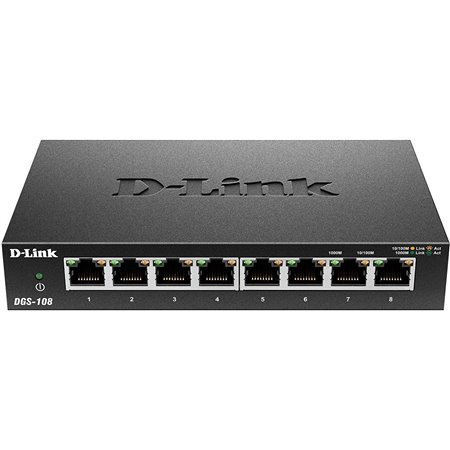 Switch D-LINK 8p 10/100/1000 Gigabit (DGS-108GL)