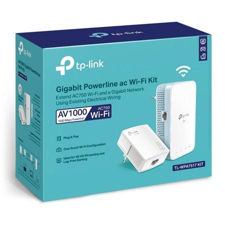 Powerline TP-LINK Kit WiFi AC750 (TL-WPA7517 KIT)