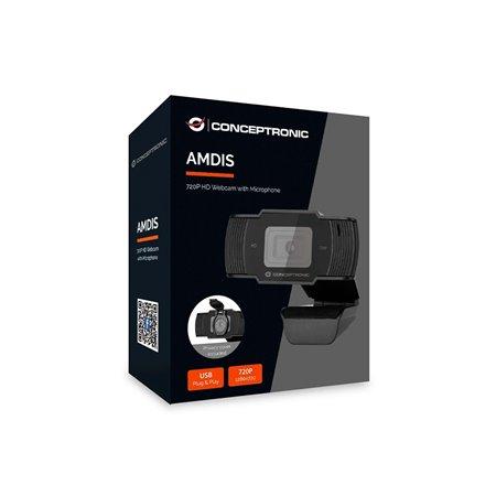 WebCam CONCEPTRONIC HD 720p Usb Micro (AMDIS05B)