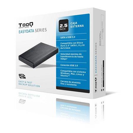 """Caja HDD TOOQ 2.5"""" SATA USB3 Negro (TQE-2527B)"""
