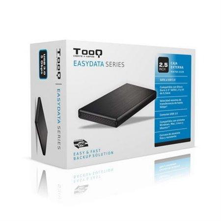 """Caja HDD TOOQ 2.5"""" Sata USB 3.0 Negra (TQE-2522B)"""