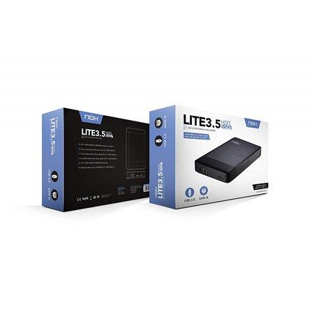 """Caja HDD NOX Lite 3.5"""" HDD/SSD USB3.0 (NXLITEHDD35)"""