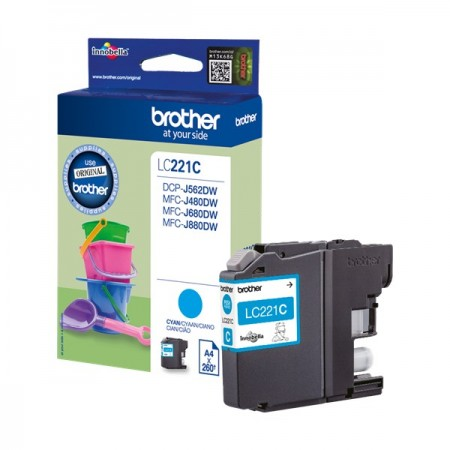 Tinta Brother LC221C Cyan 550p